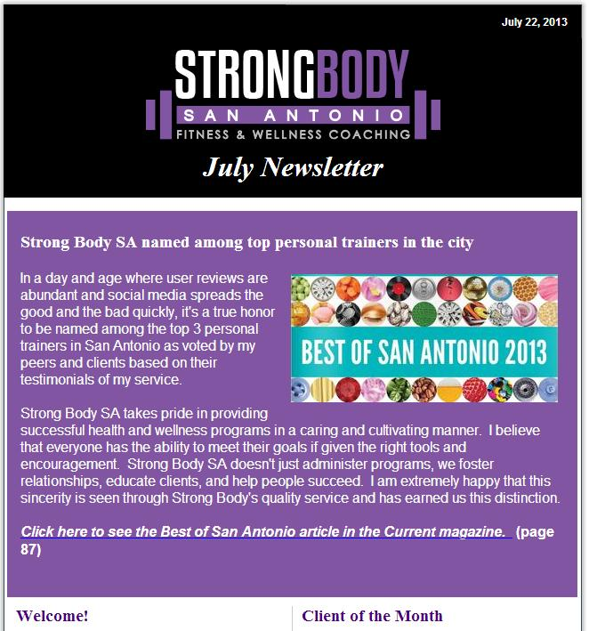 Click to view the July Newsletter