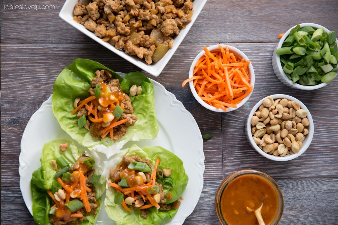 Healthy-Asian-Turkey-Lettuce-Wraps-